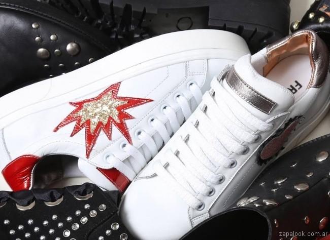 Zapatillas urbanas con estrellas invierno 2018 - Fragola