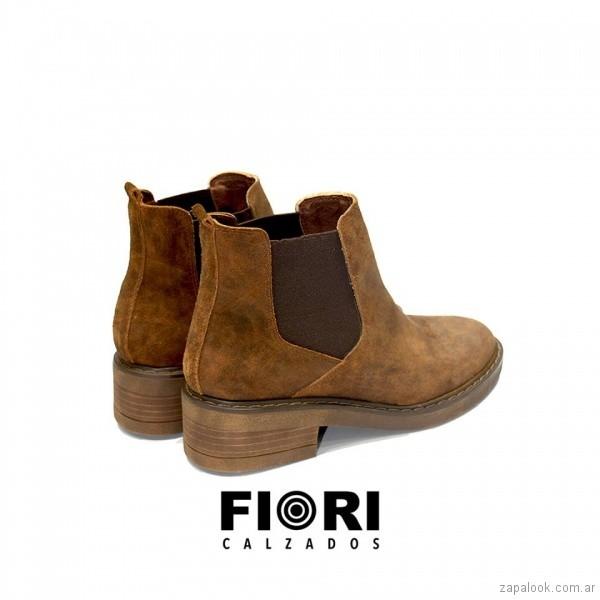 botas marrones con elastico para mujer invierno 2018 FIORI Calzature