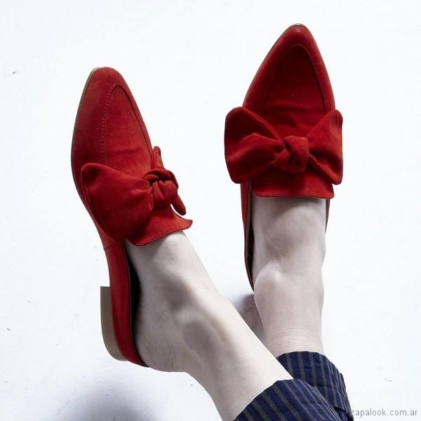 – American Invierno Rojos Zapatos 2018 Mules Pie Destalonados YAqwwI5