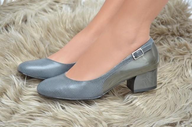 zapatos grises punta redonda invierno 2018 - Ferraro