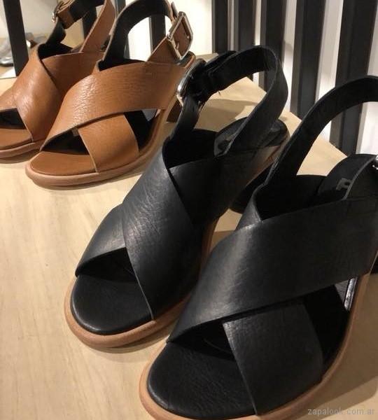 Calzados Phi Shoes - sandalias taco medio y grueso verano 2019