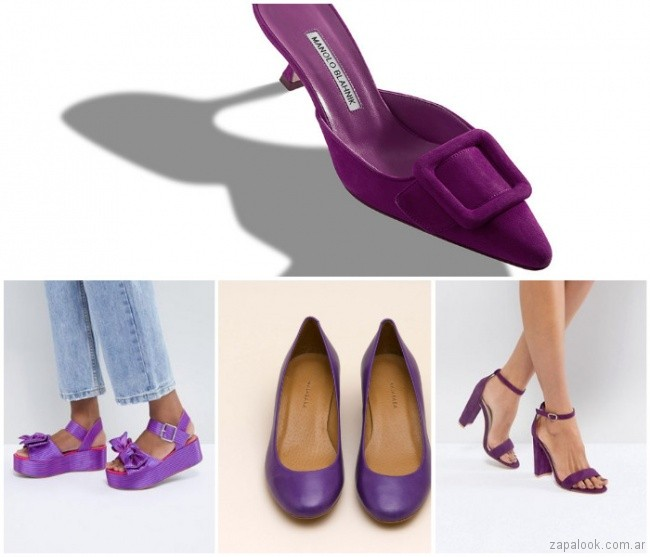 Calzados color ultra violet verano 2019