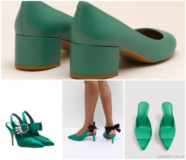 Calzados Zapalook Verde – Verano Color 2019 FKJT1cl