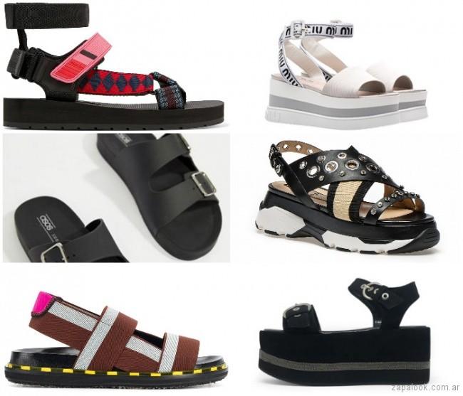 Sandalias de goma moda verano 2019 - Argentina