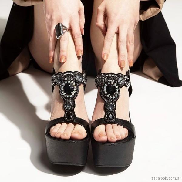 Sandalias negras para fiestas - Calzado Micadel verano 2019
