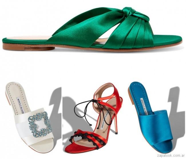 Sandalias satinadas moda verano 2019 - Argentina