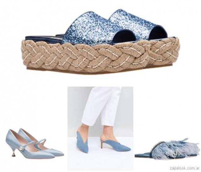 Zapatos y sandalias Azul cielo verano 2019