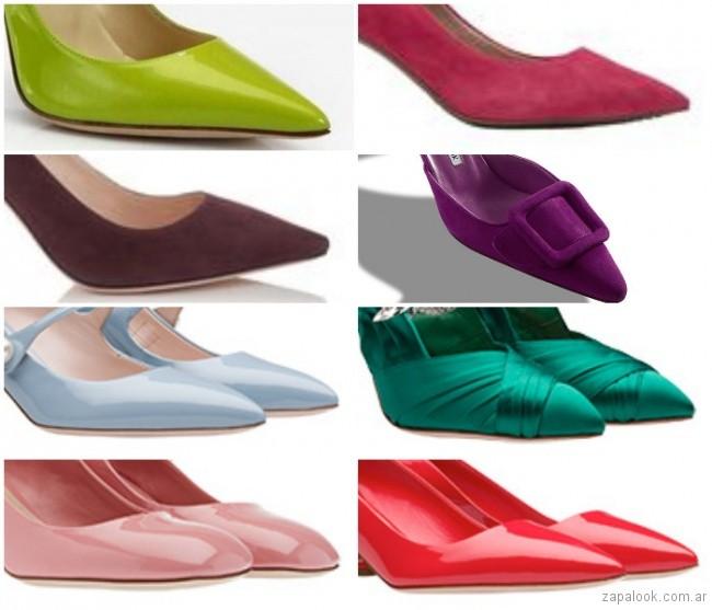 Zapatos y sandalias de colores primavera verano 2019 - Argentina