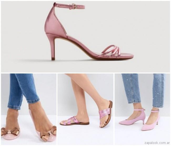 Zapatos y sandalias rosa lila verano 2019