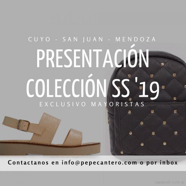anticipo sandalia y mochila anticipo Pepe cantero verano 2019