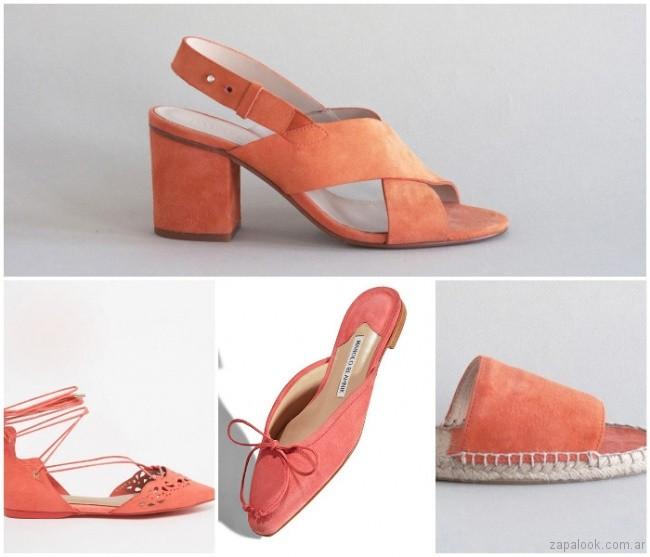 calzado color mecoton primavera verano 2019