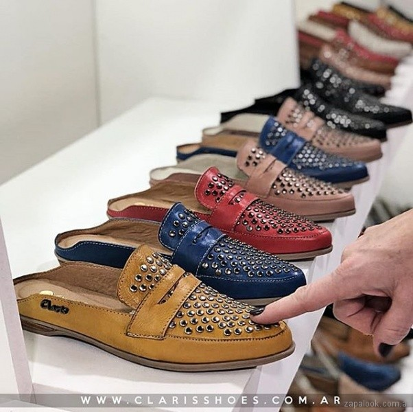 mocasines destalonados - anticipo Claris Shoes verano 2019