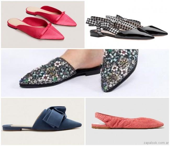 mules punta fina moda verano 2019 - Argentina