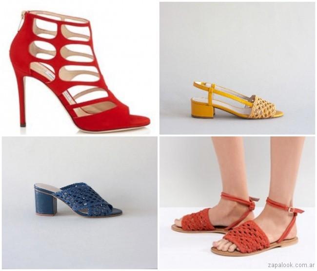 sandalias y zapatos calados moda verano 2019 - Argentina