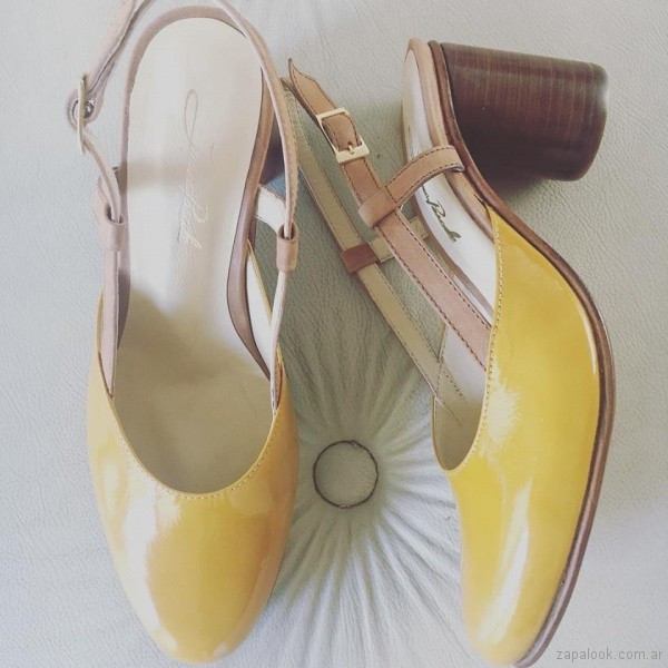 zapatos amarillos verano 2019 - Juana Pascale