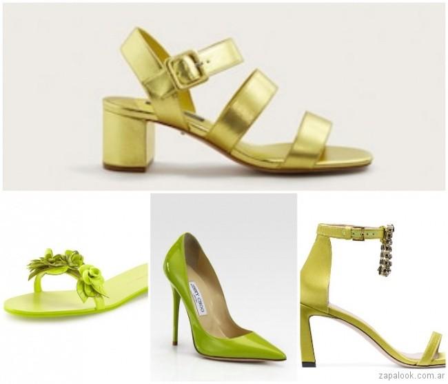zapatos verde lima verano 2019