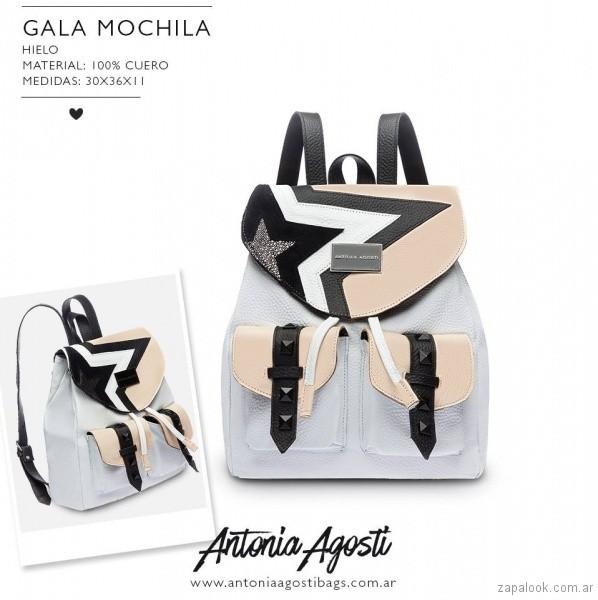 Mochila de cuero de moda primavera verano 2019 - Antonia Agosti Bags