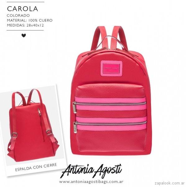 Mochila roja primavera verano 2019 - Antonia Agosti Bags