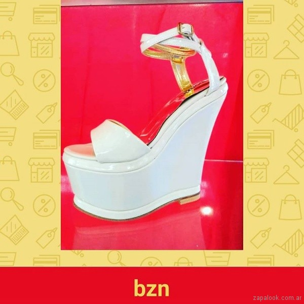 Sandalias para fiestas blancas verano 2019 - Bonzini Shoes