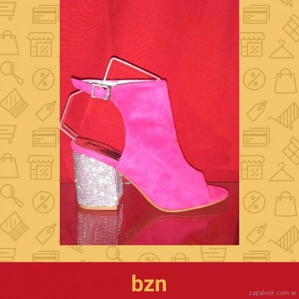 Sandalias para fiestas fucsia verano 2019 - Bonzini Shoes