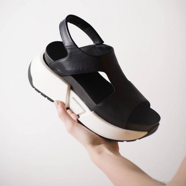 sandalias con plataformas de cuero phishoes primavera verano 2019
