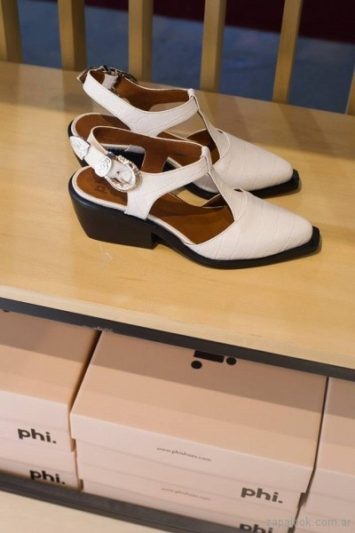 zapatos con punta y talon descubierto phishoes primavera verano 2019