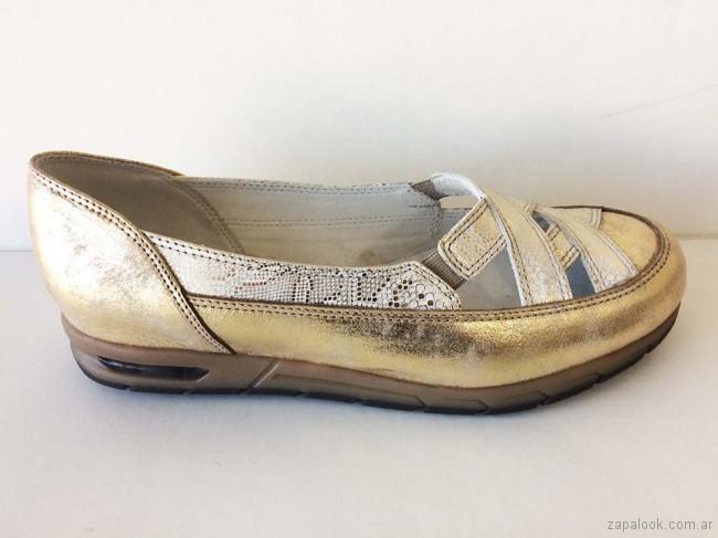 zapatos dorados para señoras - Circle Urbano verano 2019