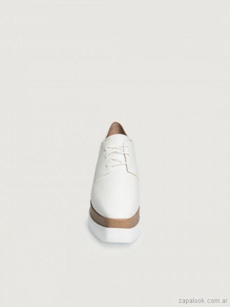 Zapatos abotinados con plataformas verano 2019 - Prune