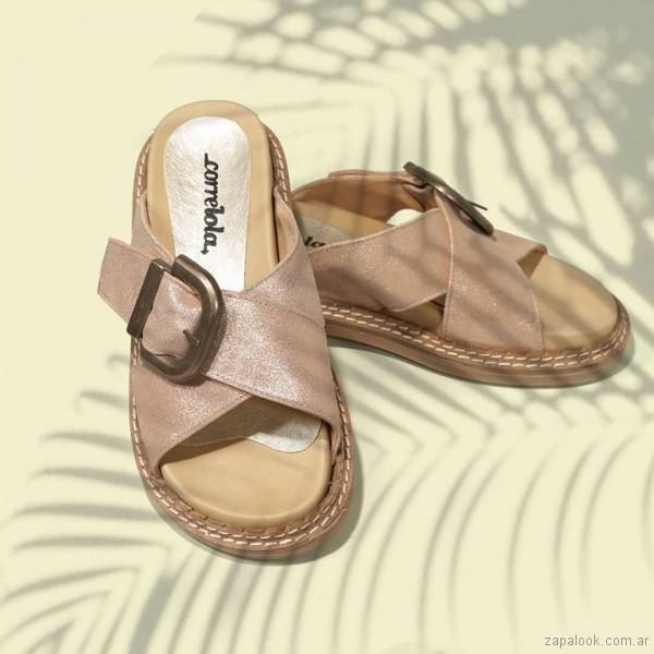 sandalias chatitas verano 2019 - Corre Lola