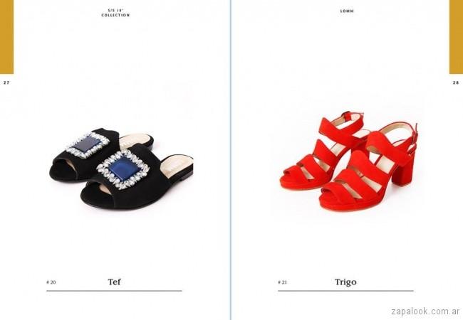 sandalias coloridas primavera verano 2019 -Lomm shoes