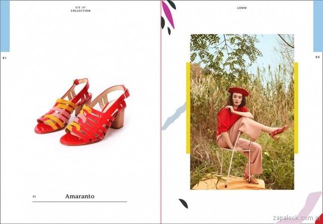 sandalias rojas primavera verano 2019 -Lomm shoes