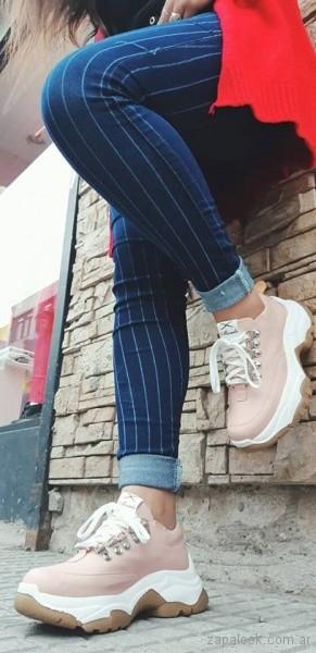 zapatillas rosadas primavera verano 2019 - Calzados Micaela Pasos que enamoran