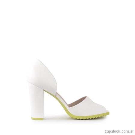 zapatos blancos suela verde fiesta verano 2019 - Ferraro