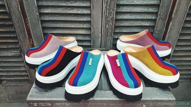 zapatos destalonados multicolor primavera verano 2019 - Calzados Micaela Pasos que enamoran