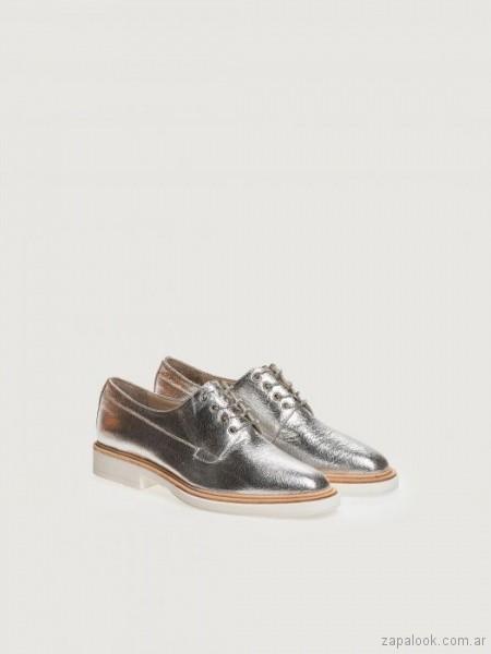 zapatos plateados abotinados verano 2019 - Prune