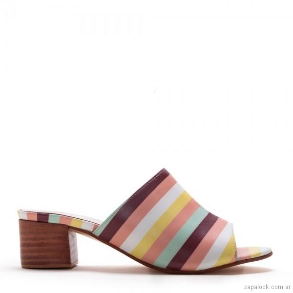 zuecos multicolores verano 2019 - Justa Osadia