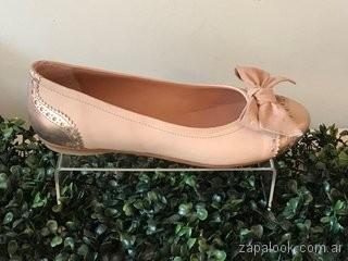 Balerinas rosadas doradas verano 2019 - Alfonsina Fal