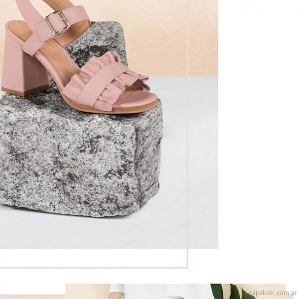 Sandalias altas rosa verano 2019 - Calzados Lucerna