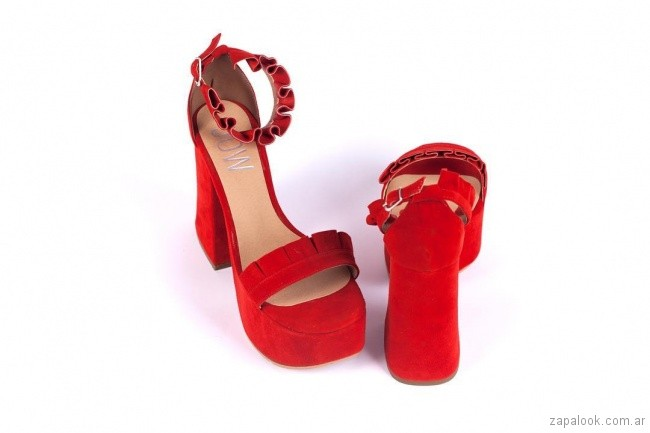 Sandalias rojas altas verano 2019 - JOW