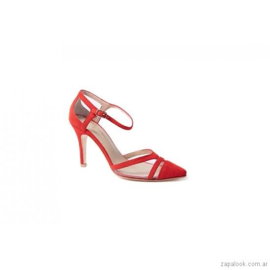 Stillettos rojos verano 2019 De Maria calzados