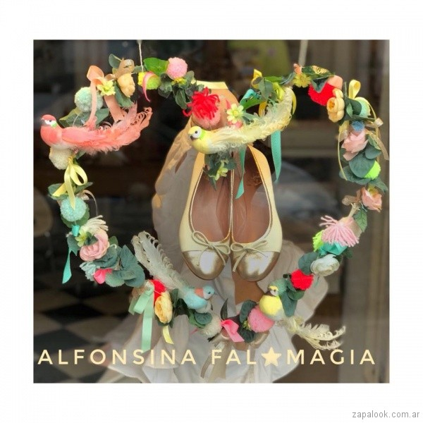 balerinas amarillas y doradas primavera verano 2019 - Alfonsina Fal