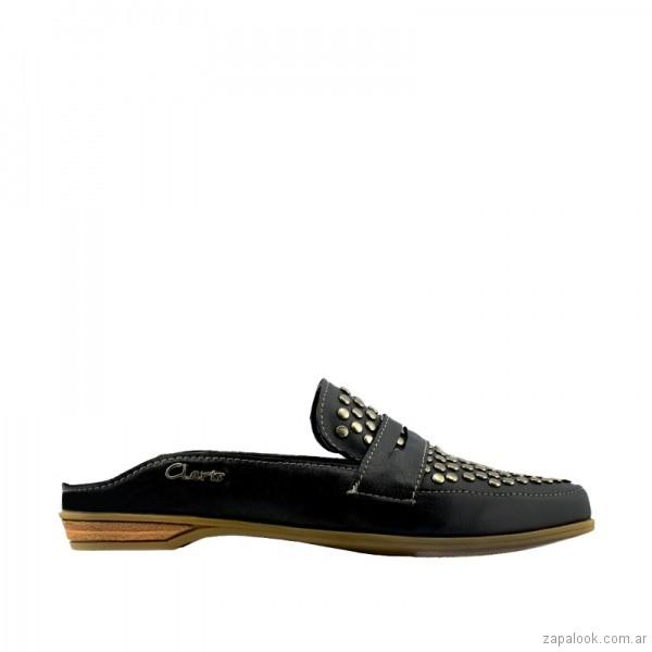 mocasines negros para mujer verano 2019 - Claris Shoes