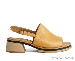 sandalias amarillas verano 2019 Cestfini