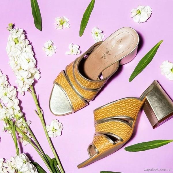 sandalias amarillas verano 2019 - Saverio di ricci