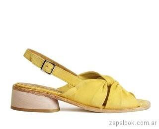 sandalias bajas amarillas verano 2019 Cestfini