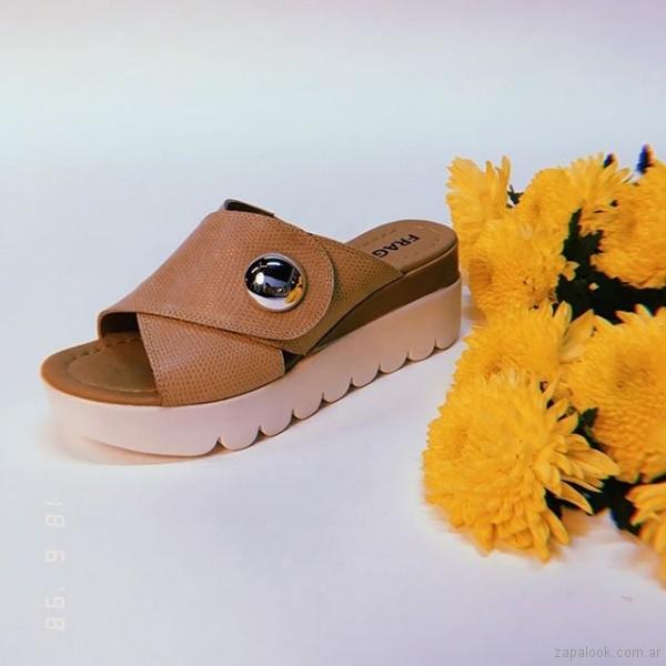 sandalias bajas marrones verano 2019 - Fragola