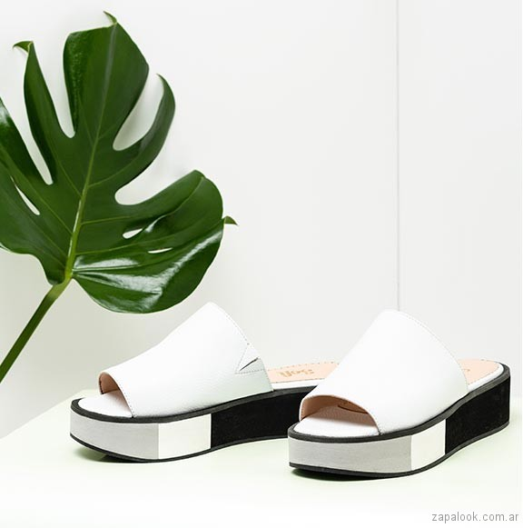 sandalias blancas planas verano 2019 - Sofi Martire