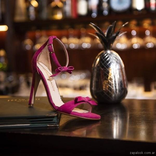 sandalias elegantes fusia verano 2019 - Saverio di ricci