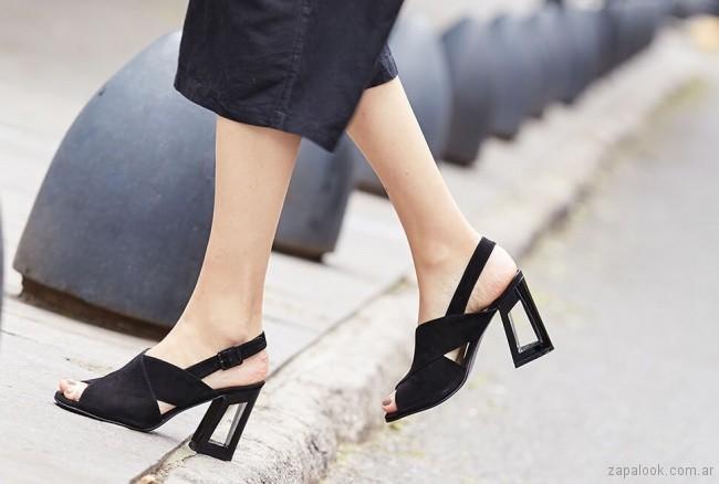 sandalias negras altas verano 2019 Cestfini