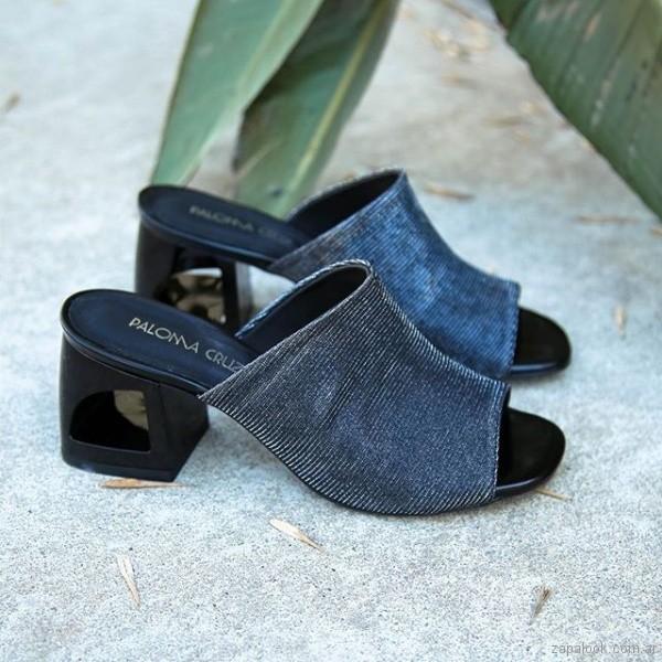 sandalias negras metalizadas verano 2019 - Paloma Cruz